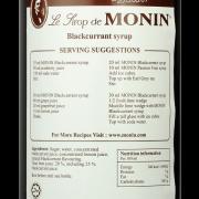 MONIN syrup Blackcurrant – 70cl