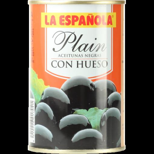 Plain black olives from Spain - 300g