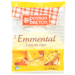 Shredded cheese Emmenthal - 70g
