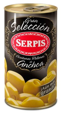 Green olives white anchovies 'boquerones' SERPIS, 350g