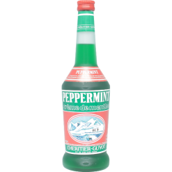 Peppermint green liqueur Heritier Guyot 27% - 70cl