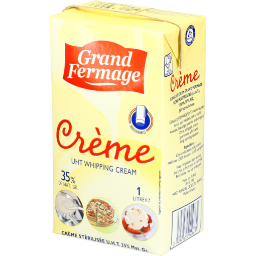 Whipping cream UHT from France - 1L