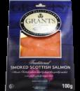 Frozen Smoked salmon from Scotland – 100g