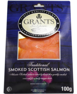 Frozen Smoked salmon from Scotland - 100g